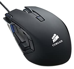 Mouse láser Corsair vengeance M95 Performance MMO y RTS para juegos color negro (CH-9000025-NA)