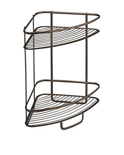InterDesign Axis 2-Tier Shower Shelf, Bronze