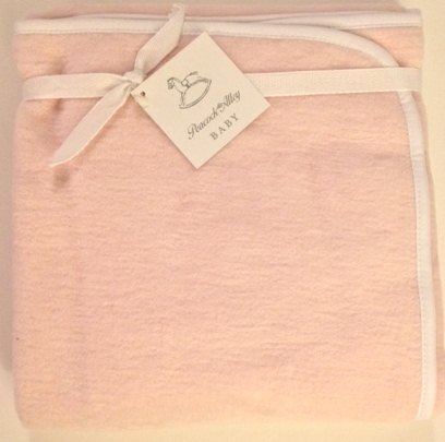 Peacock Alley Baby Blanket Pink 100% Egyptian Cotton