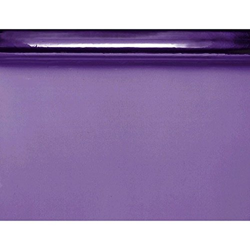 "Amscan Functional Cellophane Wrap Party Supplies for Any Occasion, 40' x 30"", Purple"