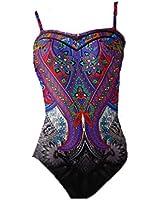 Gottex Folklore Bandeau Multi Color Swimsuit