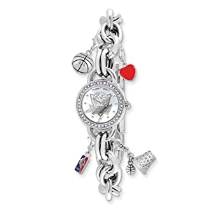 Ladies NBA Dallas Mavericks Charm Watch by Jewelry Adviser Nba Watches