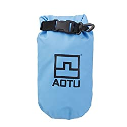 Impoted 1.5L Waterproof Dry Bag Pouch for Camping Boating Fishing Rafting Blue