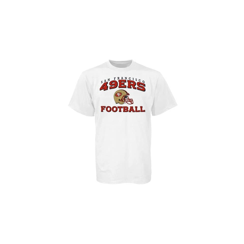 Reebok San Francisco 49ers White Youth Stacked Helmet T