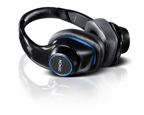 Denon AH-D401 Urban Raver Over-Ear Headphones with Control Wheel and Integrated Microphone (Compatible with iPhone/iPod) - Black