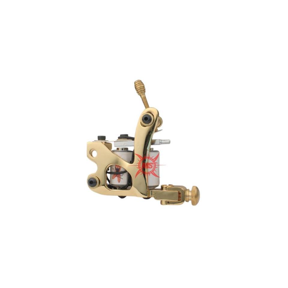 New GOLD SHADER Custom Cast Iron Tattoo Machine H1G