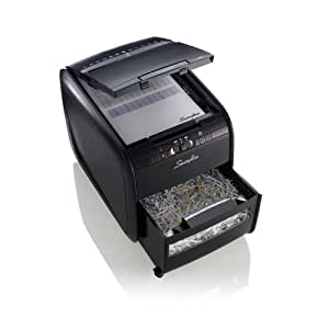 Swingline Paper Shredder, Stack-and-Shred 60X Auto Feed, Cross-Cut, 60 Sheets, 1 User, Black (1757572)