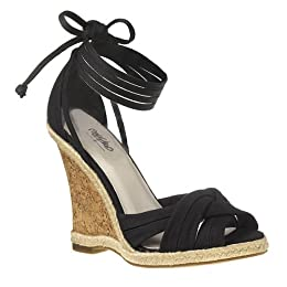 Mossimo® Presta Ankle-Tie Wedge Shoes - Black : Target
