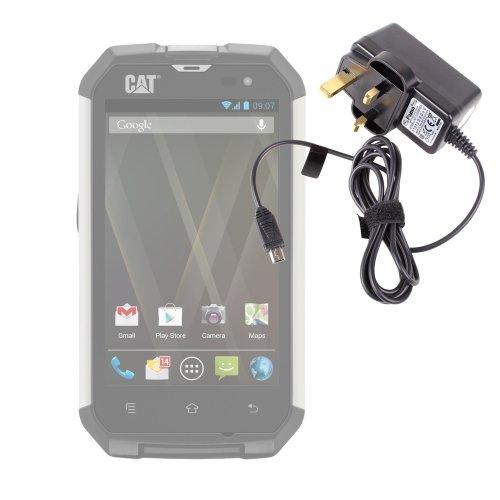 Duragadget High-Quality Uk Mains Charger For Caterpillar B10, B15 & B25 Smartphones