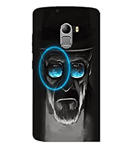PrintDhaba Hat Man D-5082 Back Case Cover for LENOVO K4 NOTE A7010a48 (Multi-Coloured)