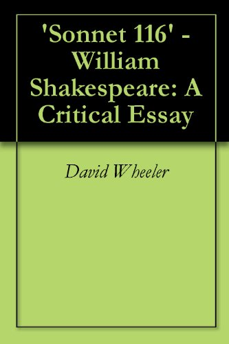 essay on sonnet 116 by william shakespeare