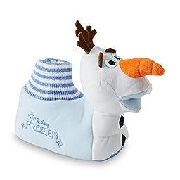 Disney Frozen Olaf Sock Top Slippers 5-6