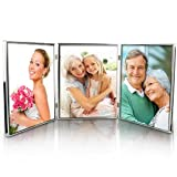 Silver Plated Triple 8 x 10 Photo Frame