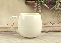 New White Porcelain Mugs and Cups,Plain White Ceramic Drinking Coffee Mugs Water Tea Cup Drinkware