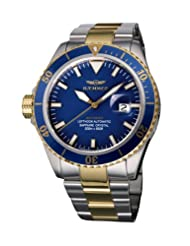 Haemmer Men's ND-08 Navy Diver Automatic Rotating Bezel Steel Watch