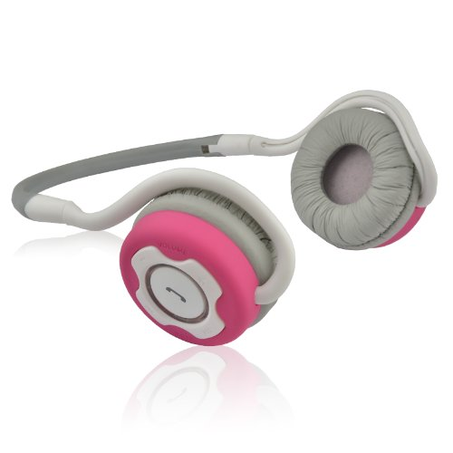NoiseHush NS400 Bluetooth Stereo Headset - Retail Packaging - White/Pink