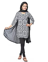Black And White Cotton Salwar Suit