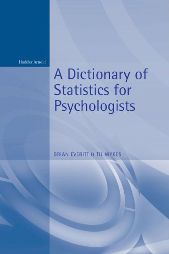 Dictionary of Statistics for Psychology (Arnold Student Reference)