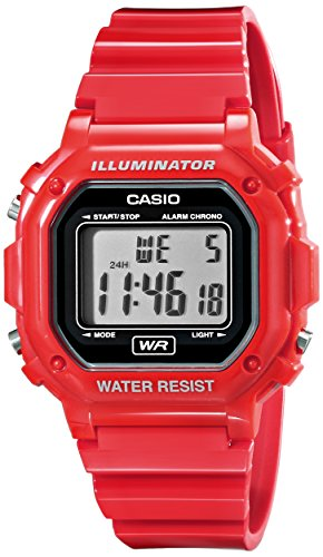 Casio F-108WHC-4ACF Classic Red Stainless Steel Watch (Casio Red Dial Watch compare prices)