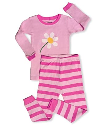 "Leveret "" Blooming Flower"" 2 Piece Pajama 100% Cotton (12-18 Months)"