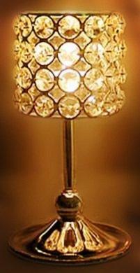 Ryocas Decorative Candle Lantern - Romantic Sparkle Silver Crystal Jewel Pillar Candle Holder Stand Pedestal, 8-Inch