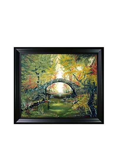 Susan Art Old Bridge Framed Canvas Print