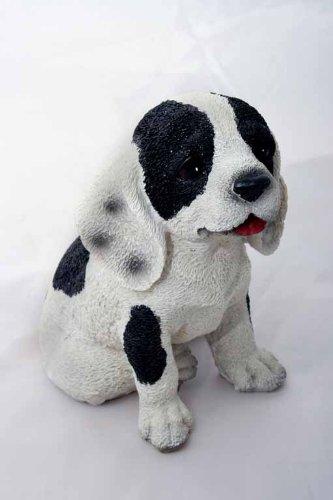 Barking Dog Garden Ornament (Black And White)