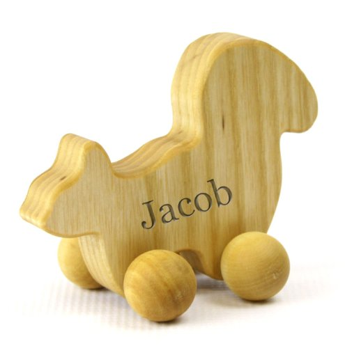 Personalized Eco-Friendly Wooden Squirrel Push Toy For Babies & Toddlers front-679315