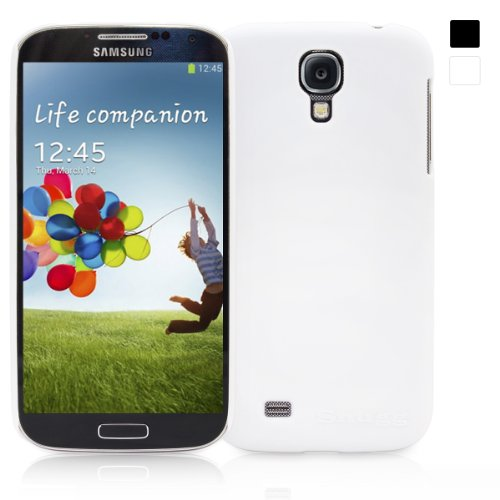 Snugg Galaxy S4 Ultra Thin Case Cover in White - Ultra Slim, Non Slip Material Protective and Soft to Touch for the Samsung Galaxy S4