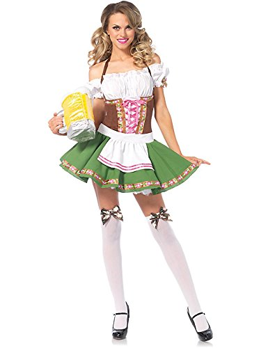 Sexy Bavarian Beer Maiden Gretchen Costume Bundle With Accessories ( SIZE XL )
