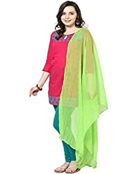 Castle Light Green Chiffon Dupatta