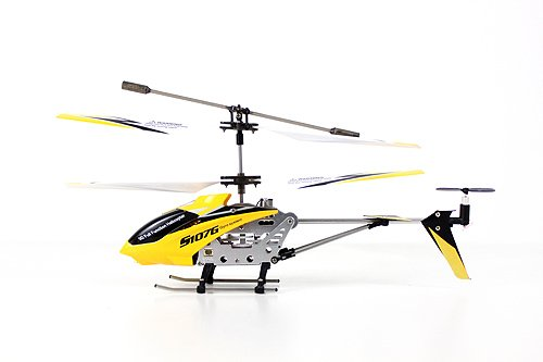 Syma S107G 3 Channel RC Radio Remote Control Helicopter with Gyro - Black Yellow