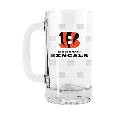 NFL Cincinnati Bengals Satin Etch Tankard Glass, 16-ounce
