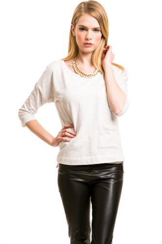 Pocket Front Top In White
