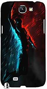Timpax protective Armor Hard Bumper Back Case Cover. Multicolor printed on 3 Dimensional case with latest & finest graphic design art. Compatible with Samsung Galaxy Note II N7100 Design No : TDZ-27194