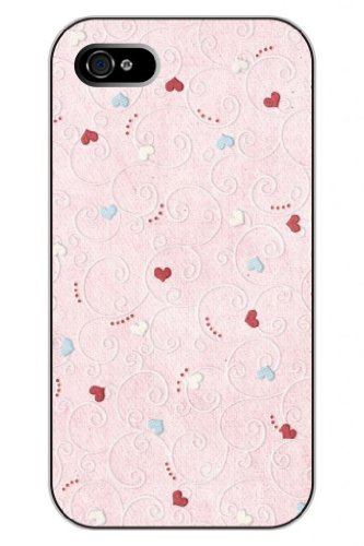 Sprawl New Interesting Creative Design Hard Plastic Snap-On Case Cover Shell For Apple Iphone 4 4S 4G--Girly Pink Heart Shape Pattern front-1038756