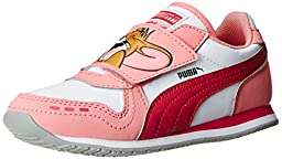 PUMA Cabana Racer Tom and Jerry Kids Sneaker (Infant/Toddler/Little Kid) , Rose/White/Pink, 2.5 M US Little Kid