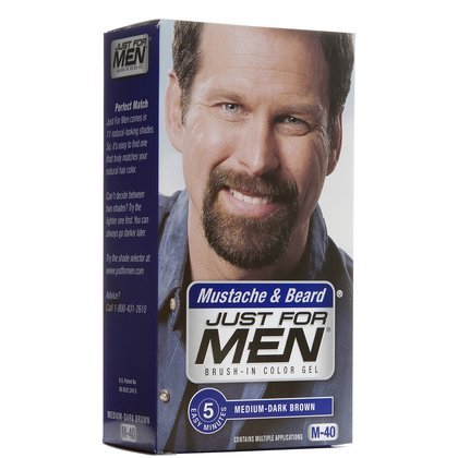 Just for Men Just For Men Brush In Color Mustache & Beard Medium/Dark Brown