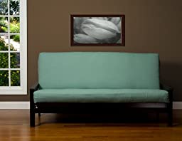 SIS Cover Linen Teal Futon Cover Fabric (Removable futon cover fabric only. Futon frame and futon mattress sold separately) - Full