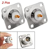 SODIAL(R) 2pcs N Female Jack Panel Mount Chassis PCB Connector Adapter