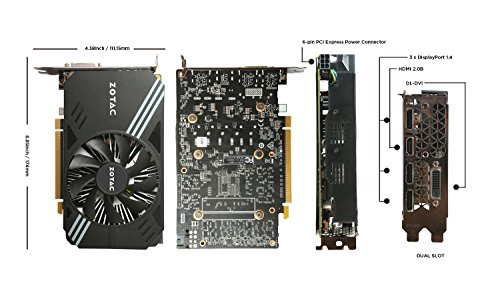 ZOTAC GeForce GTX 1060 Mini 6GB GDDR5 Super Compact Graphics Card (ZT-P10600A-10L)