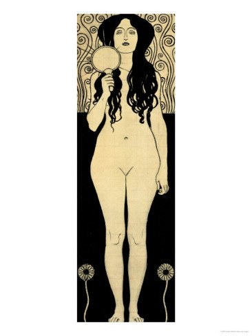 Nuda Veritas (Naked Truth), Inscribed Truth is Fire and to Speak Truth is Shining and Burning Giclee Print Art (12 x 16 in)