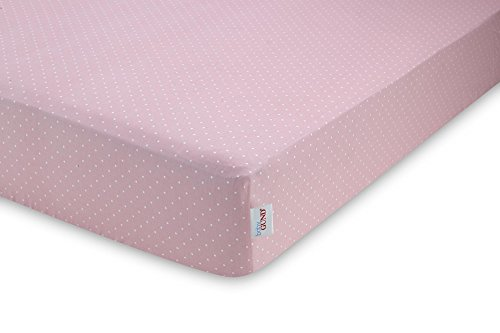 GUND Babygund Little Polka Dots Sateen Crib Sheet, Little Polka Dots - Popsicle Pink, 28'' By 52''