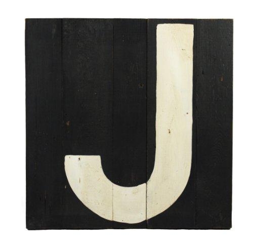 ZENTIQUE Wooden Letter, Monogrammed J