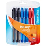 Paper Mate InkJoy 100ST Ballpoint Pen, Capped, Business Colors, 8-Pack