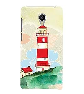PrintVisa Travel Lighthouse Art 3D Hard Polycarbonate Designer Back Case Cover for Meizu M2