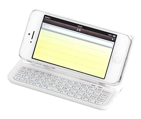 iBUFFALO iPhone 5専用 Bluetooth 3.0対応 キーボード ケース一体型 ホワイト BSKBB16WH