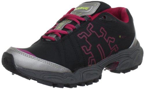 Icebug Women's Heros-L Bugrip Running Shoe,Black/Cherry,7 M US