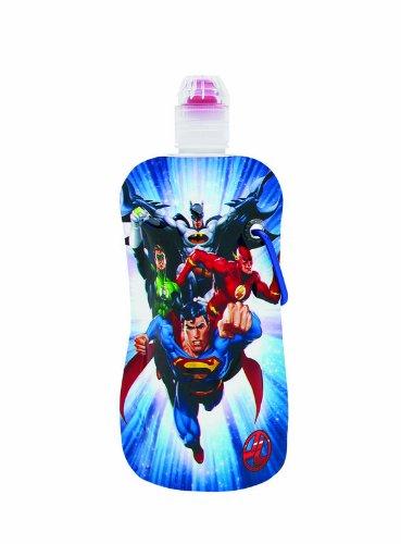 Sharkskinzz Water Bottle - 12 Oz Dc Comics Justice League (2 Pack)