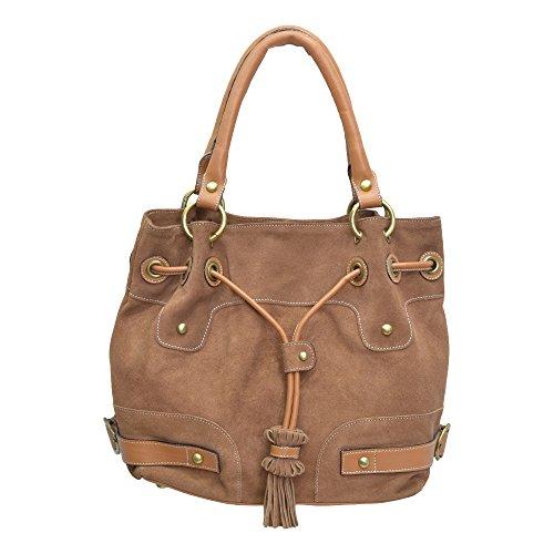 Camel Leather Farm Dump Bag (Camel Colour) (Multicolor)